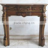 Wooden Mantel Fireplace - Antique Style Furniture - Indoor Furniture for Living Room