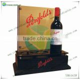 wood bottom back bar display logo can be printed countertop wood display stand YM4164W