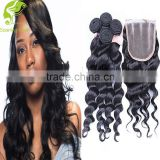 wholesale alibaba brazilian human hair body wave black hair piece with lace closure weave thin hair wigs