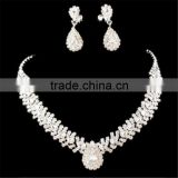 Bridal Wedding Party Jewelry Set Crystal Rhinestone Diamante Necklace & Earrings Set