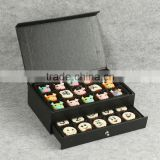 black sliding paper box for sweet