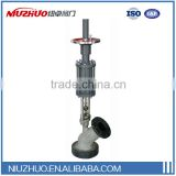 Factory store discharge valve with pneumatic or electric actuator no dead zone off operating for layout made in China
