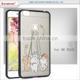 frosted carton 2 in 1 tpu phone bumper case for asus