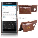 Factory Price Croco PU Leather Case Cover for Blackberry Priv Fashion Cell Phone Housing