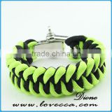 Customized adjustable buckle paracord bracelet shackle with logo
