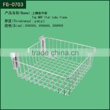 china supplier factory drect sale metal wire wall baskets for display and shelving with different size