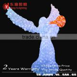 high quality lighted angel outdoor christmas decorations Outdoor 3d ice sculpture angel LED motif light