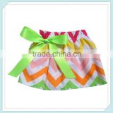 New Arrival Baby Girls Skirts Party Dance Dress Girls Cheap Cotton Chevron Skirts Girls Sexy Short Mini Tennis Skirt Rainbow