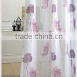 2016 latest designs metal eyelets printed sheer feather curtain