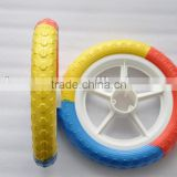 colorful light weight baby plastic bike trailer stroller wheel 12 inch