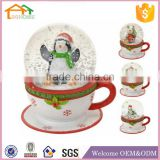 Factory Custom made best home decoration snow globe gift polyresin christmas penguin snow globe
