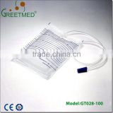 China manufacture high quality portable 2000ml sterile urine bag