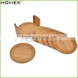 Hot Selling Cheap Round Dining Hot Food Bamboo Table Mat Bamboo Cup Coaster Sets/Homex_Factory