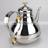 Popular Design 1.2Liter stainless steel teapot arabic teapot,arabic coffee pot with handle