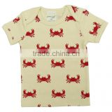100% Organic Cotton Plain with Printed baby t shirts and Short sleeve Polo t shirts for Kids with New style baby Pants