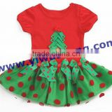 Wholesale kids outfits clothes,baby red dots dress clothes set for girls