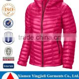Outdoor Fashion High Quality Ultra Light Women Down Jacket For Winters 2016