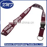 wholesale woven logo jacquard cord breakaway lanyards for promotional gift