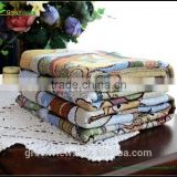 110*140CM summer heavy cotton baby blanket bear pinted cellular blanket Wholesale soft warm cotton blanket