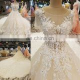LS00272 appliques elegant traditional chinese lace casual dress short sleeve wedding dresses suzhou