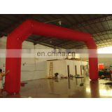 red inflatable arch