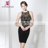 Gorgeous Beaded Black Cocktail Dress Short Cocktail Dresses LX300