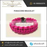 Pink Colour Paracord Bracelet Specially for Cancer Awarness Programes