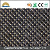 High quality pu synthetic diamond pattern leather