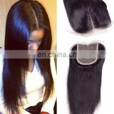 2017 hot sale straight hair mink brazilian hair bundle with closure