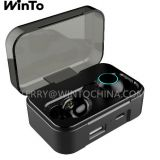 Bluetooth Earphone with 2600mAh Charging Box IPX6 Waterproof Wireless Headphone USB Output Earbuds