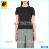 Hot Sale High Quality Lady Black T shirt with Competitive Price