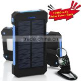 waterproof portable battery charger, 10000mah solar power bank OEM factory wholesale