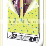 non-woven fabric wardrobe with 6 steel net wardrobe designs roller fabric wardrobe with wheels