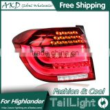 AKD Car Styling Tall Lamp for Highlander DRL New Highlander LED DRL 2016 Highlander LED Tail Light Good Quality LED Fog lamp