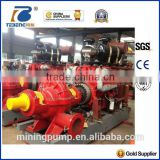 diesel engine single stage double suction split case fire pump