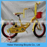"Hot! 14"" inch kids bmx bicycle, yellow bicycle for kids, cheap kids bicycle for sale"