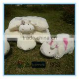 Plush animal cow seat cushion