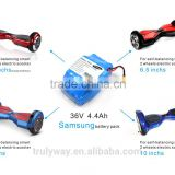 High quality Lithium-ion 4.4Ah 36V Samsung rechargeable battery for all electric scooter