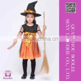 New Design Wholesale Girls Orange Charmed Witch Costume fairy costumes wholesale