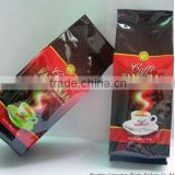 Coffee side gusset bags/ stand up coffee packing bags/ custom printing coffee food package bag