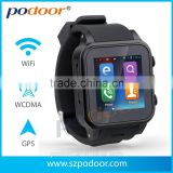 New Arrival ! ! ! 2014 podoor PW308 Android Watch Phone, with Battery capacity:600mAh lithium battery Android watch