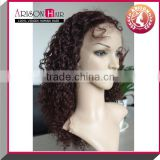Kinky curl lace front silk top wig