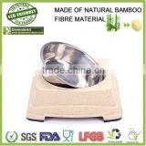 new 2016 china supplier,square&round eco-friendly bamboo material pet bowl, bamboo fiber cat/dog pet