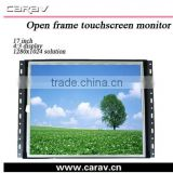 "Frameless lcd monitor 17"" USB open frame monitors touch screen with VGA/DVI/HDMI ports,resolution 1280x1024,4:3 ---OF1700"