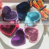 2015 New sequin heart hair clips Kids wholesales sequin bow Children Hair Accessory CB-3395
