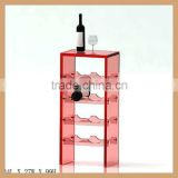 Colorful acrylic wine display stand,modern wine bottle stopper