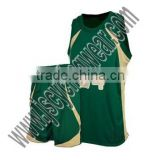 White and green basketball uniforms with customized design