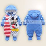 Micro Fleece Baby bunting baby romper winter with baby boys