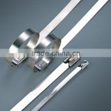 High quality free sample coated ball type metal cable strap stainless steel cable ties