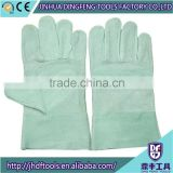 CE Certificated Beige Pig Grain Leather Working Gloves